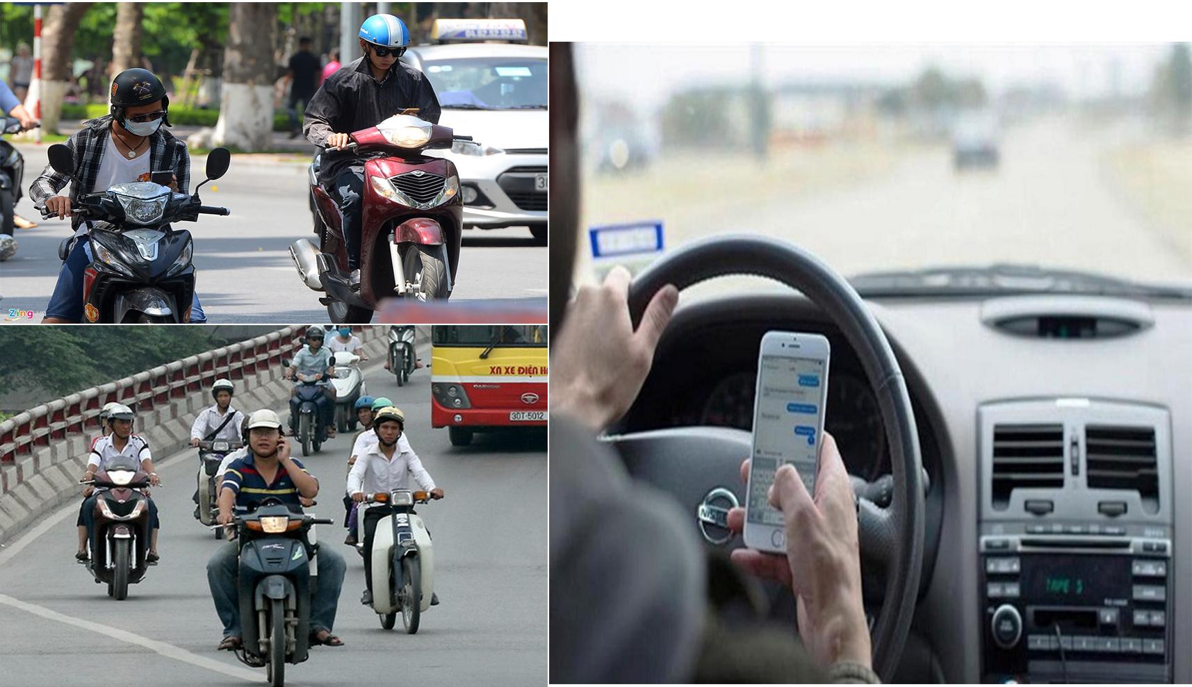 điện thoại khi lái xe