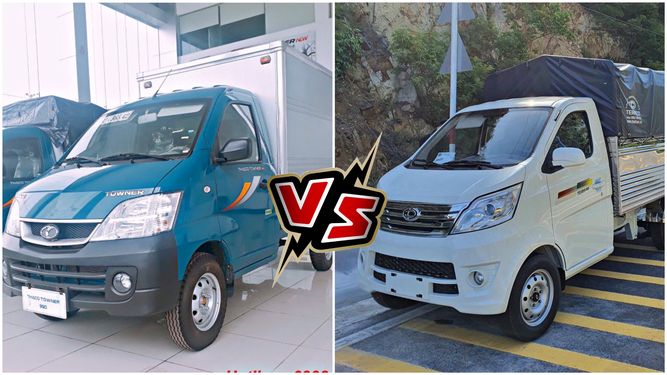 So sánh Tera 100 vs Thaco Towner 990